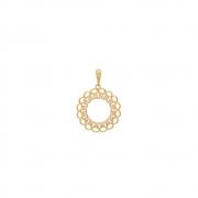 Pingente Ouro 18k Mandala com Zircônias 19 mm