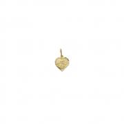 Pingente Ouro 18k Medalha de Coração Anjo 9 mm