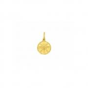 Pingente Ouro 18k Medalha Espírito Santo 9 mm
