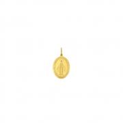 Pingente Ouro 18k Medalha N. Sra. das Graças Pequeno 11 mm