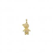Pingente Ouro 18k Menino com Diamantes 25 mm