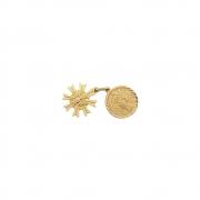 Pingente Ouro 18k Nossa Senhora Desatadora de Nós com Espírito Santo 15 mm