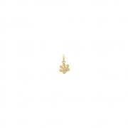 Pingente Ouro 18k Pata com Zircônias 5 mm