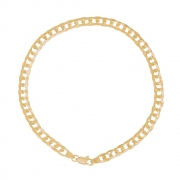 Pulseira Ouro 18k Elo Groumet 19 cm