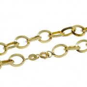 Pulseira Ouro 18k Elo Oval 19 cm