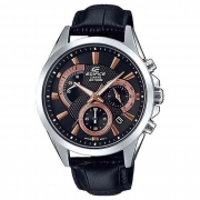 Relógio de Pulso Casio Edifice Masculino com Pulseira de Couro EFV-580