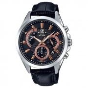 Relógio de Pulso Casio Edifice Masculino com Pulseira de Couro EFV-580L-1AVUDF