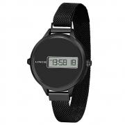 Relógio de Pulso Lince Digital Feminino com Pulseira Esteirinha SDN4637L