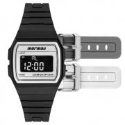 Relógio de Pulso Mormaii Vintage Unissex Troca Pulseiras MOJH02A