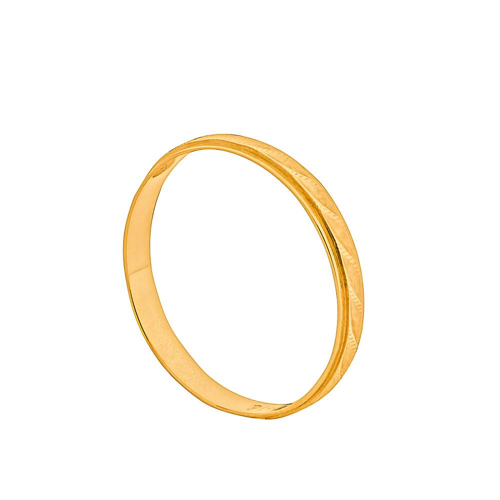 Aliança de Casamento Ouro 10k Trabalhada 2 mm
