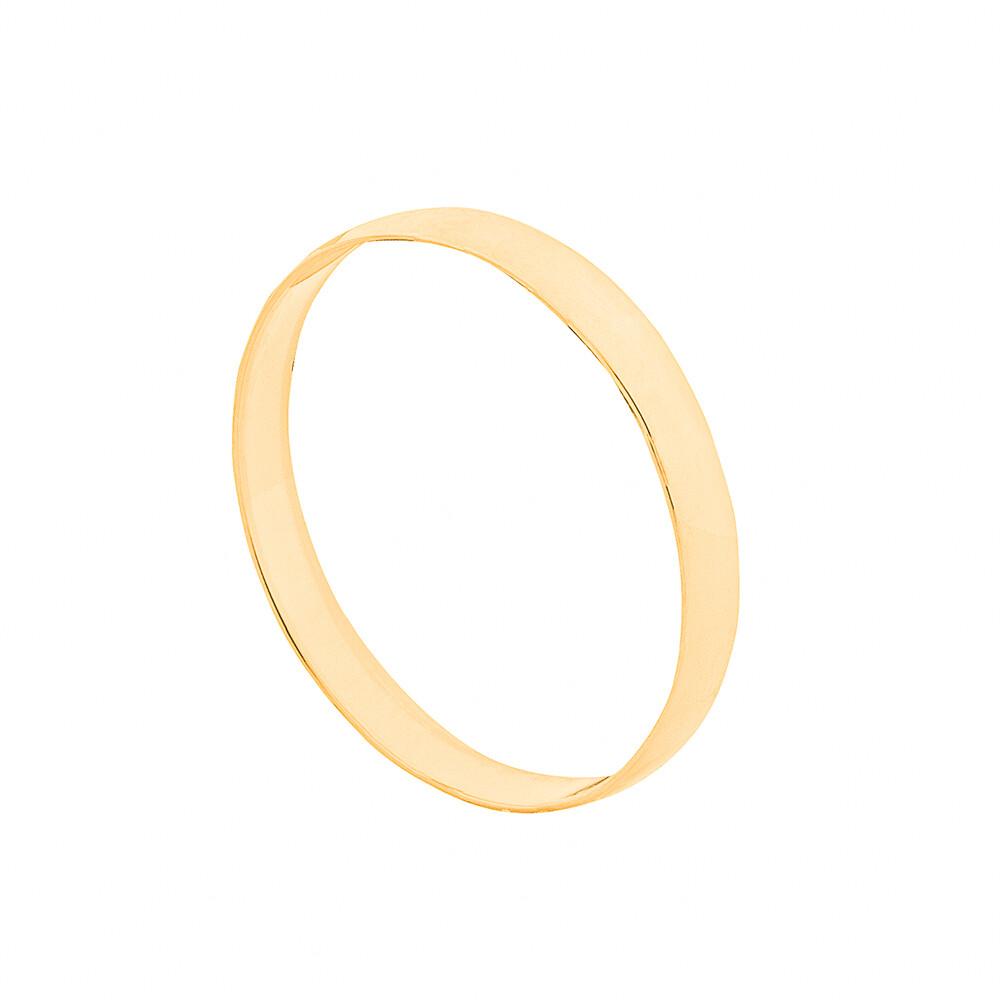 Aliança de Casamento Ouro 10k Tradicional Lisa 2,5 mm