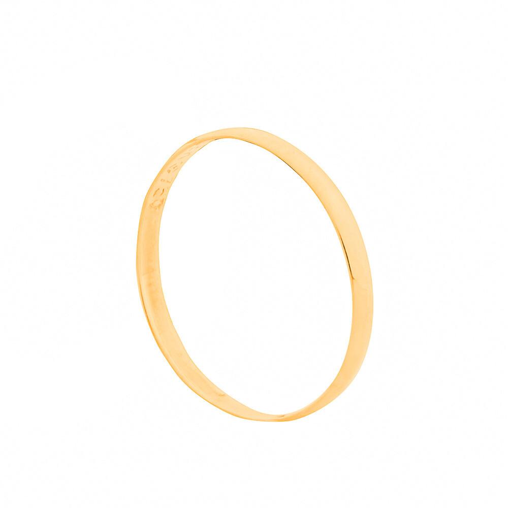 Aliança de Casamento Ouro 18k Tradicional Lisa 2 mm