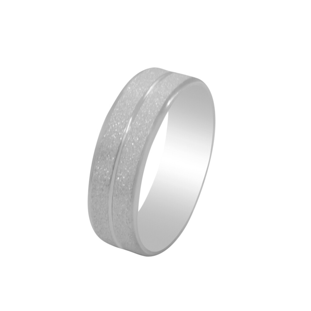 Aliança de Namoro Prata 925 Diamantada 7 mm