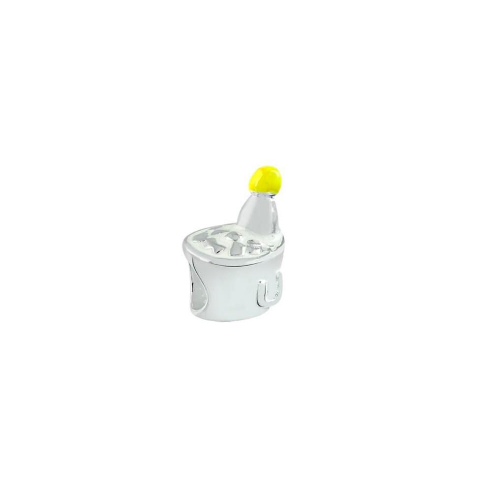 Berloque Prata 925 Balde de Champagne 12 mm
