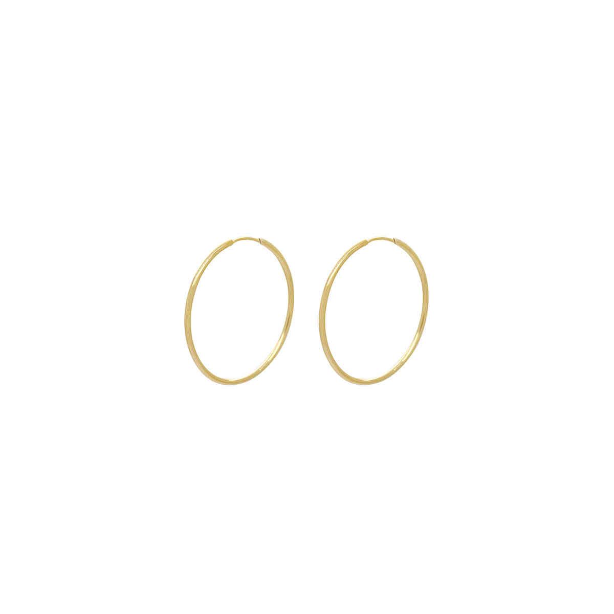 Brinco Ouro 18k Argola 25 mm