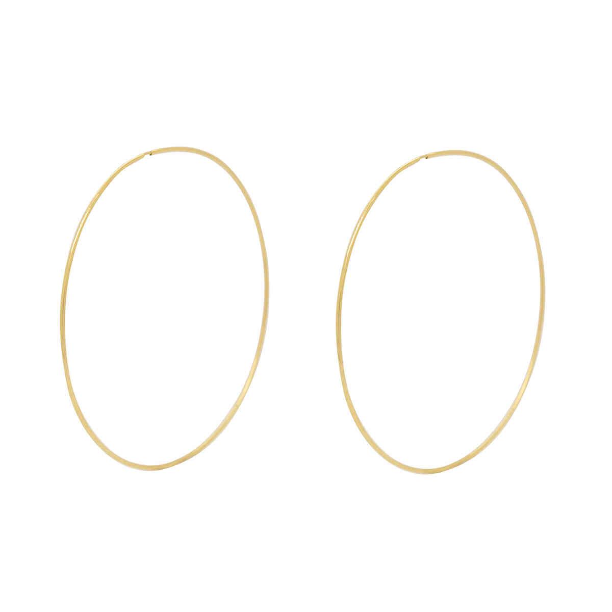 Brinco Ouro 18k Argola Grande 50 mm