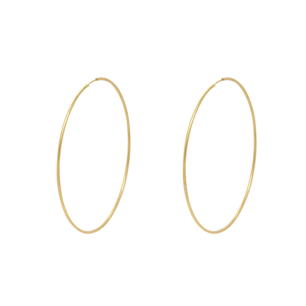 Brinco Ouro 18k Argola Grande 61 mm