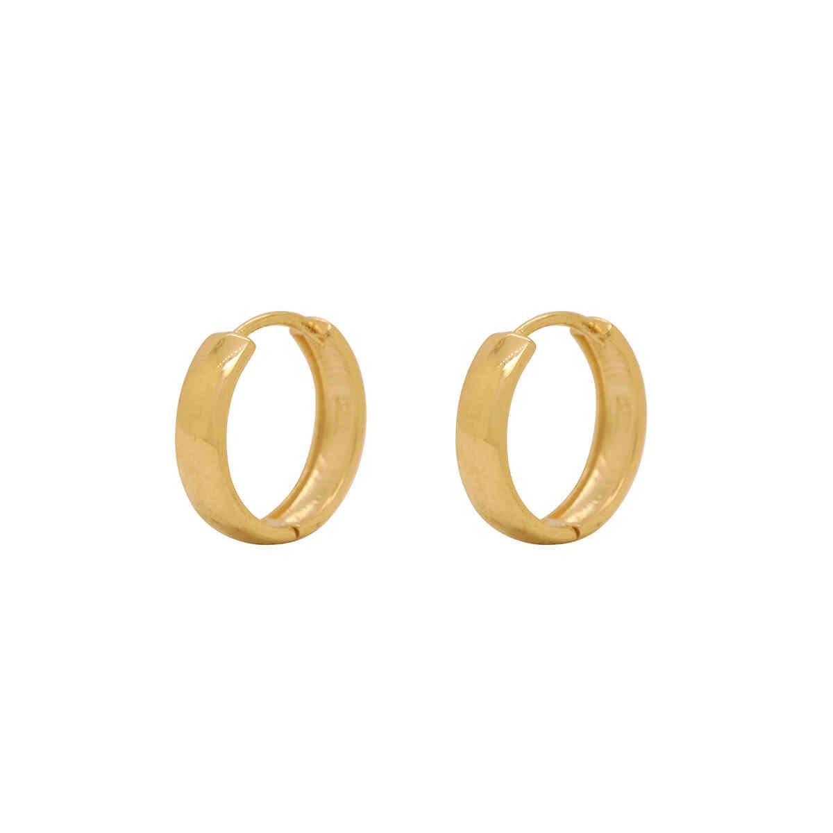Brinco Ouro 18k Argola Tradicional 14 mm