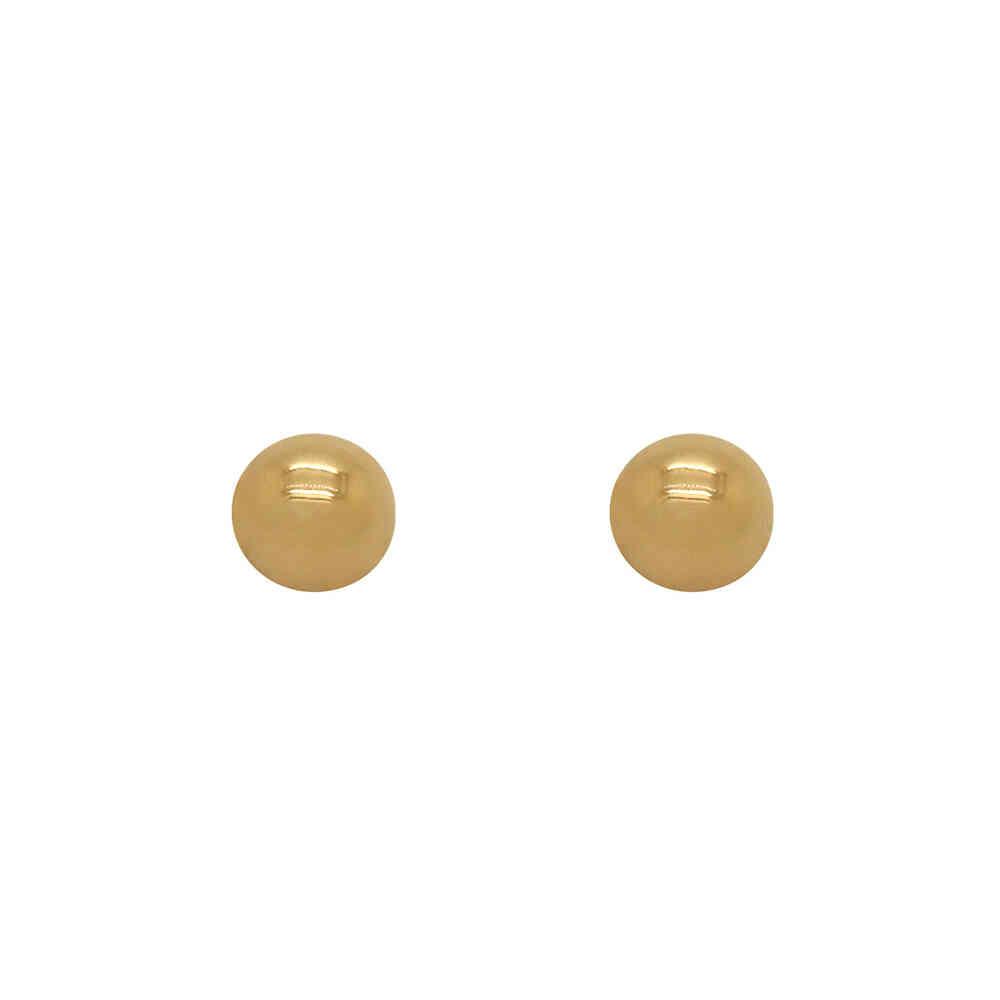 Brinco Ouro 18k Bola 6 mm