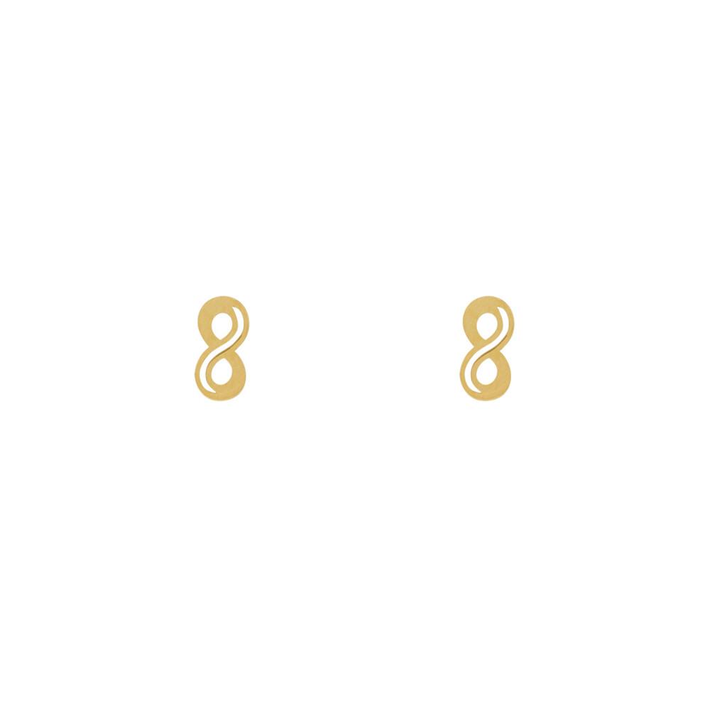 Brinco Ouro 18k Infinito Vazado Pequeno 3 mm
