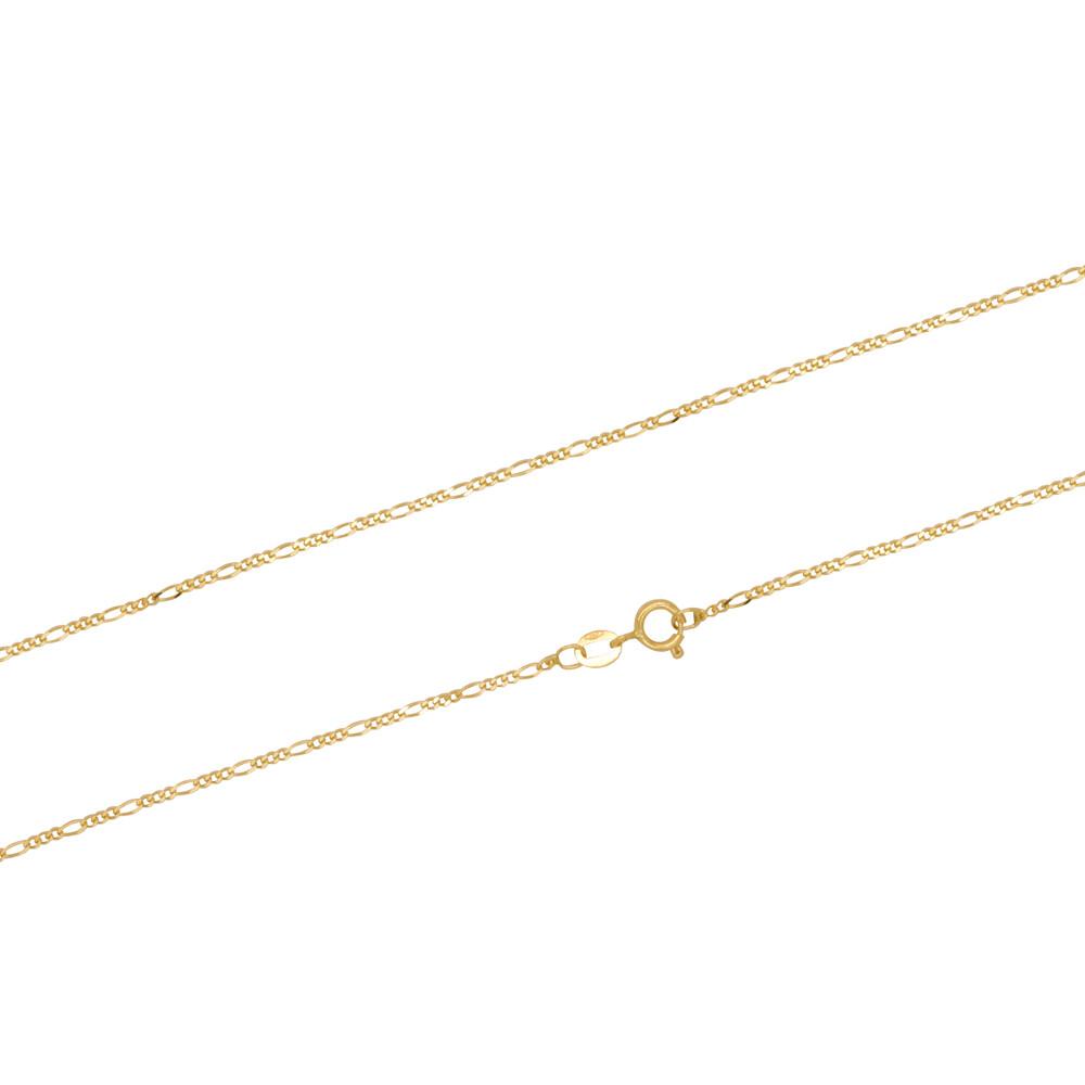 Corrente Ouro 18k Elo Groumet 3 em 1 45 cm