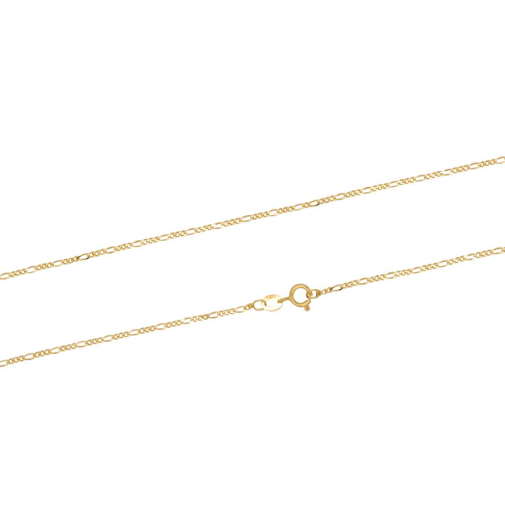 Corrente Ouro 18k Elo Groumet 3 em 1 60 cm