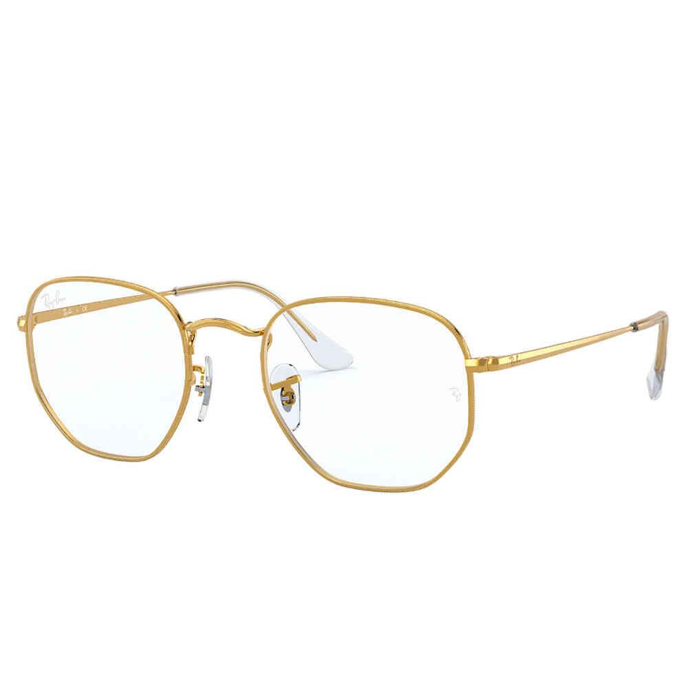 Óculos de Grau Ray-Ban Hexagonal Metal Unissex RB6448