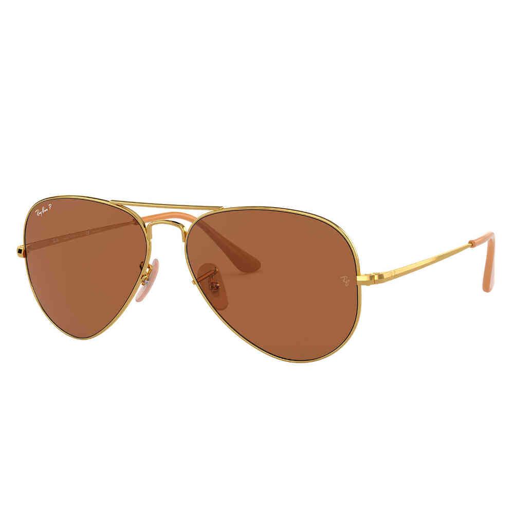 Óculos de Sol Ray-Ban Aviador II Arista Polarizado Unissex RB3689 - Tamanho Médio