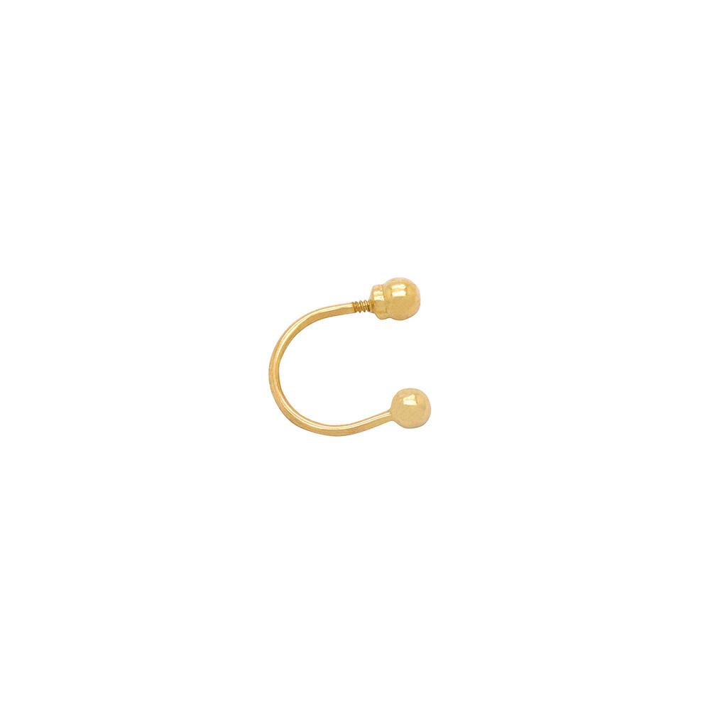 Piercing Ouro 18k Curvado Bola 3 mm