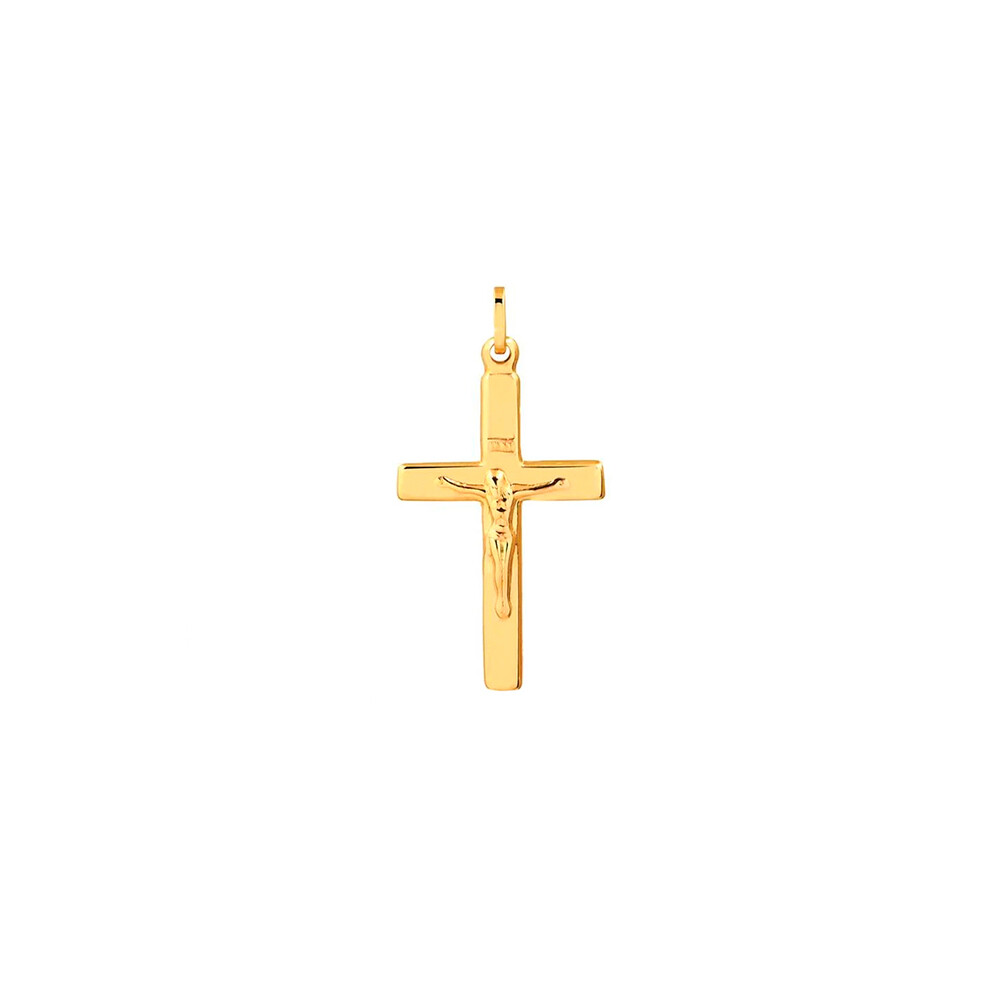 Pingente Ouro 10k Crucifixo Médio 31 mm