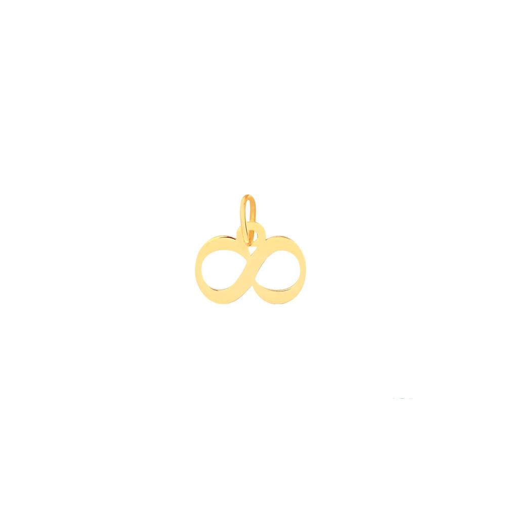 Pingente Ouro 10k Infinito 10 mm