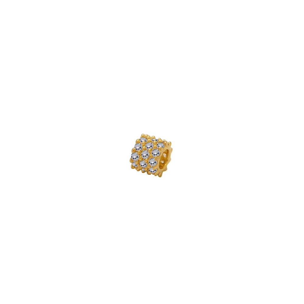 Pingente Ouro 18k Separador com Zircônias 5 mm