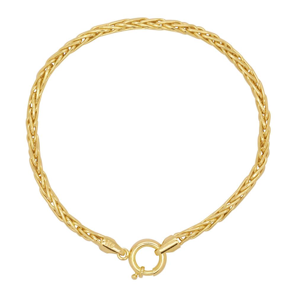 Pulseira Ouro 18k Elo Palmeira 19 cm