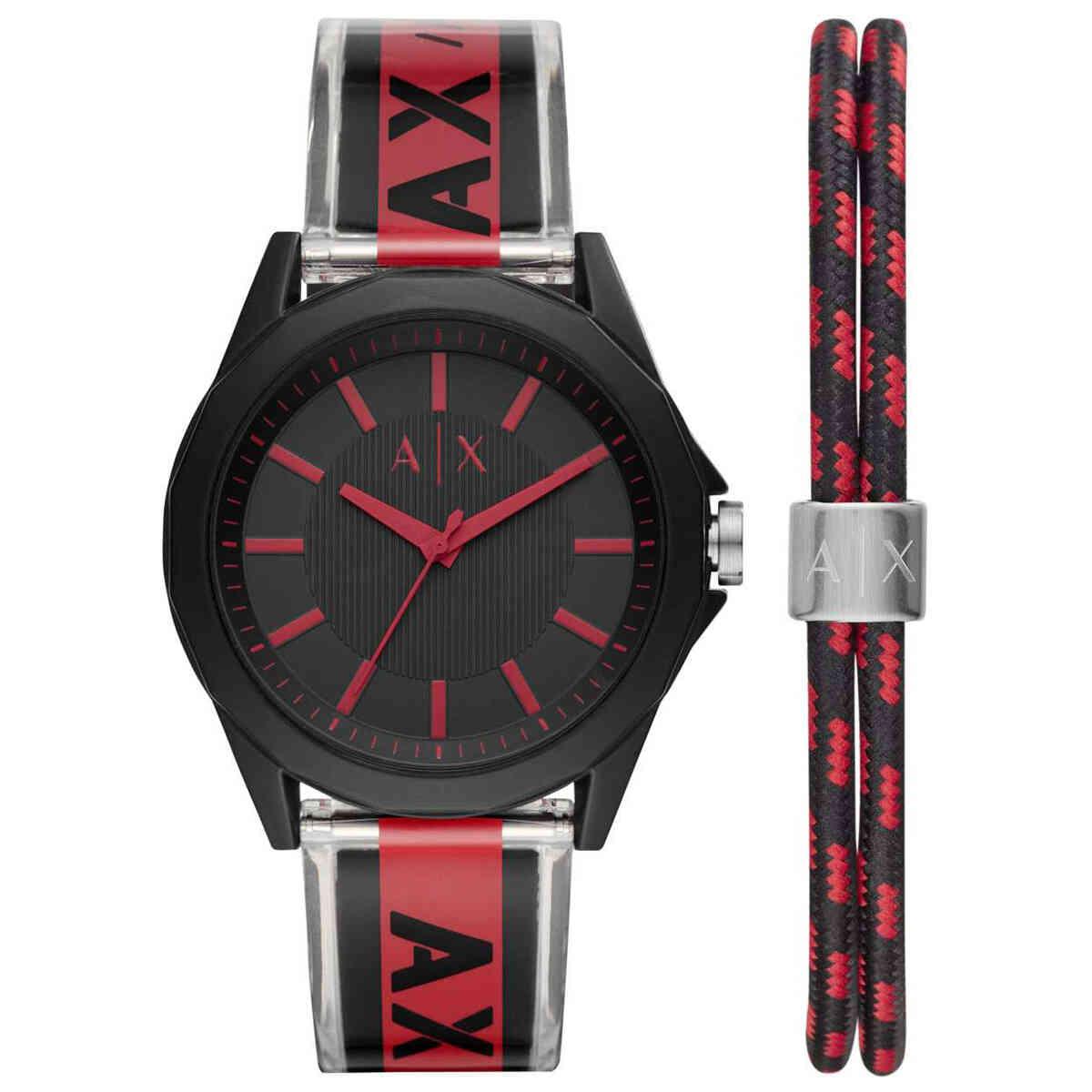 Relógio de Pulso Armani Exchange Masculino Kit com Pulseira AX7113/K8PN