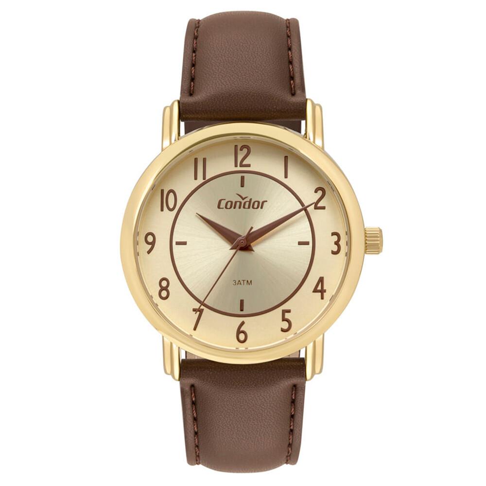 Relógio de Pulso Condor com Pulseira de Couro Feminino CO2035MRZ