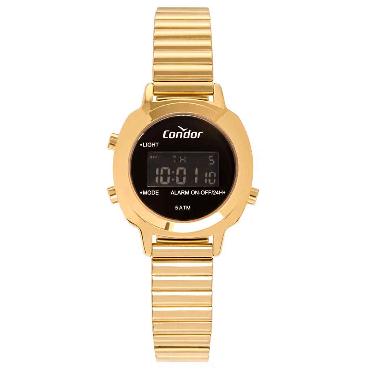 Relógio de Pulso Condor Digital Feminino com Pulseira de Mola COJH512AH