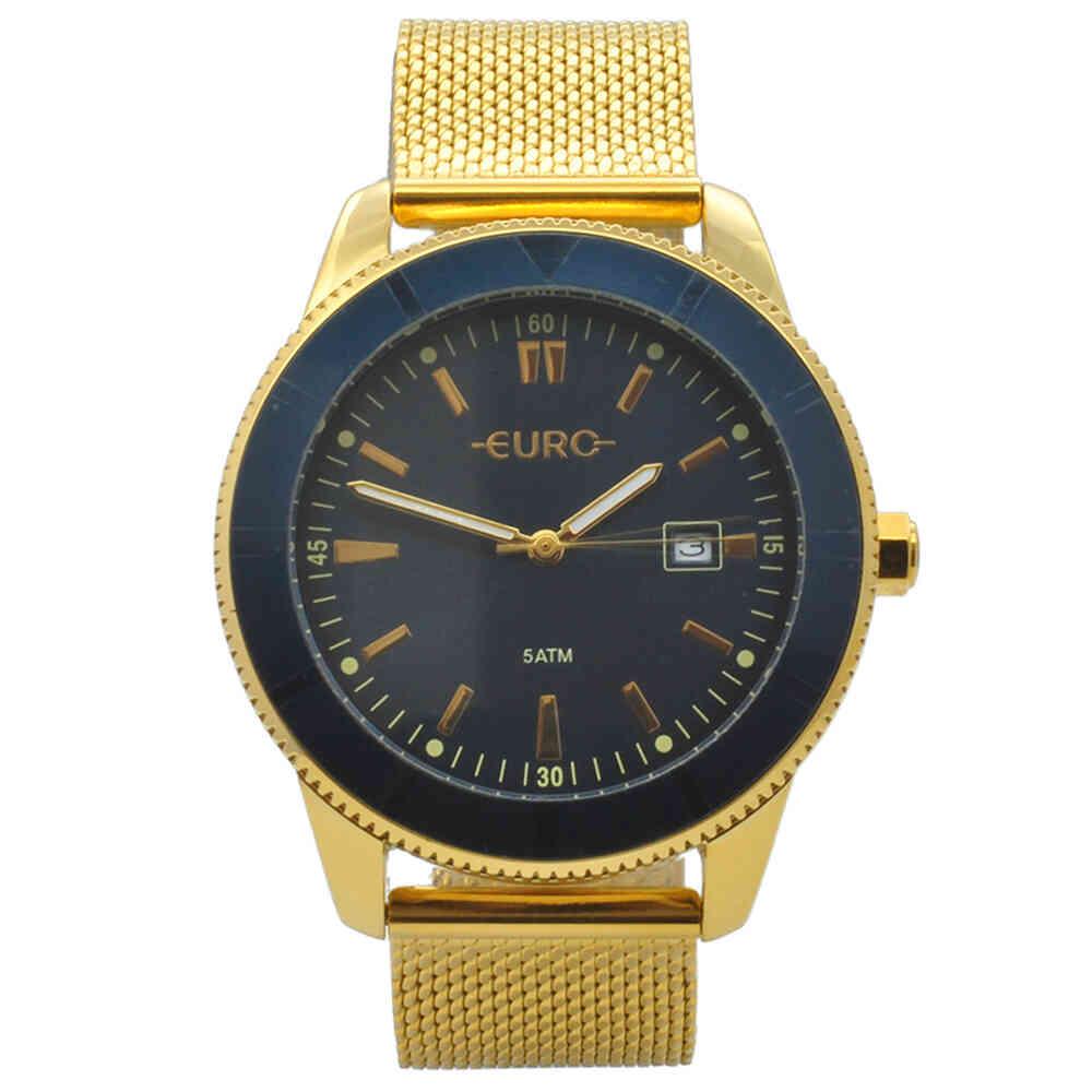 Relógio de Pulso Euro Feminino com Pulseira Esteirinha EU2115A