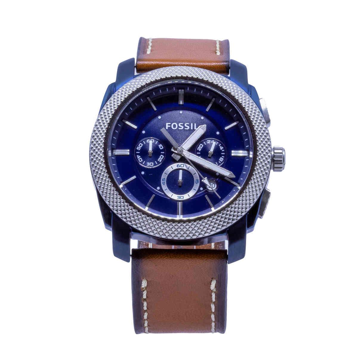 Relógio de Pulso Fossil Old Stock Masculino com Pulseira de Couro FS5232