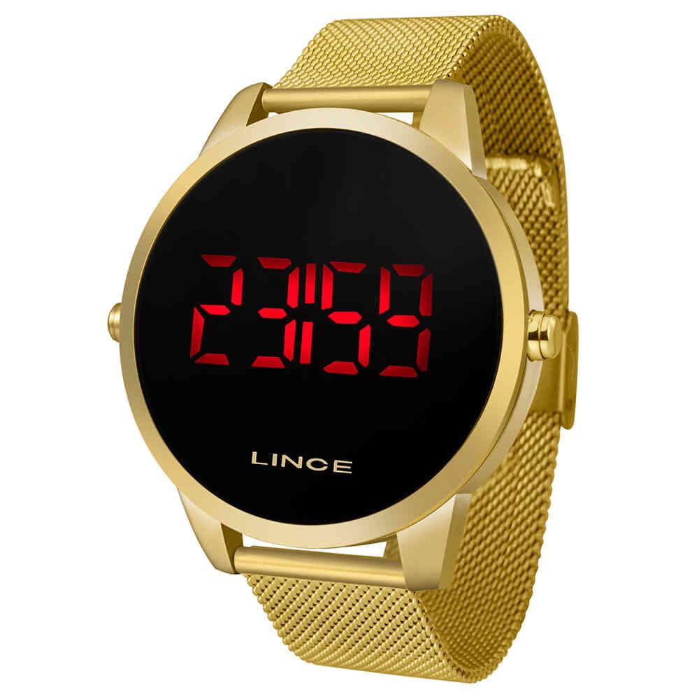 Relógio de Pulso Lince Digital Masculino com Pulseira Esteirinha MDG4586L