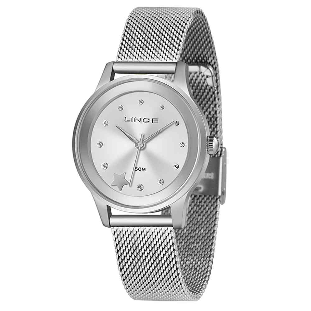 Relógio de Pulso Lince Feminino com Pulseira Esteirinha LRMH122L