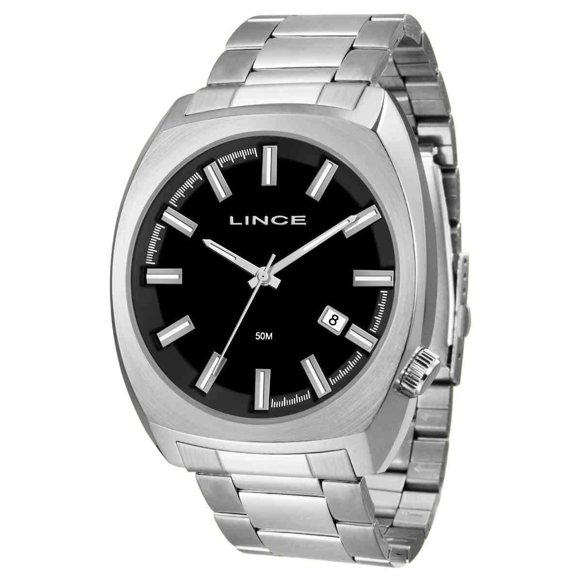 Relógio de Pulso Lince Quadrado Masculino MRM4585S