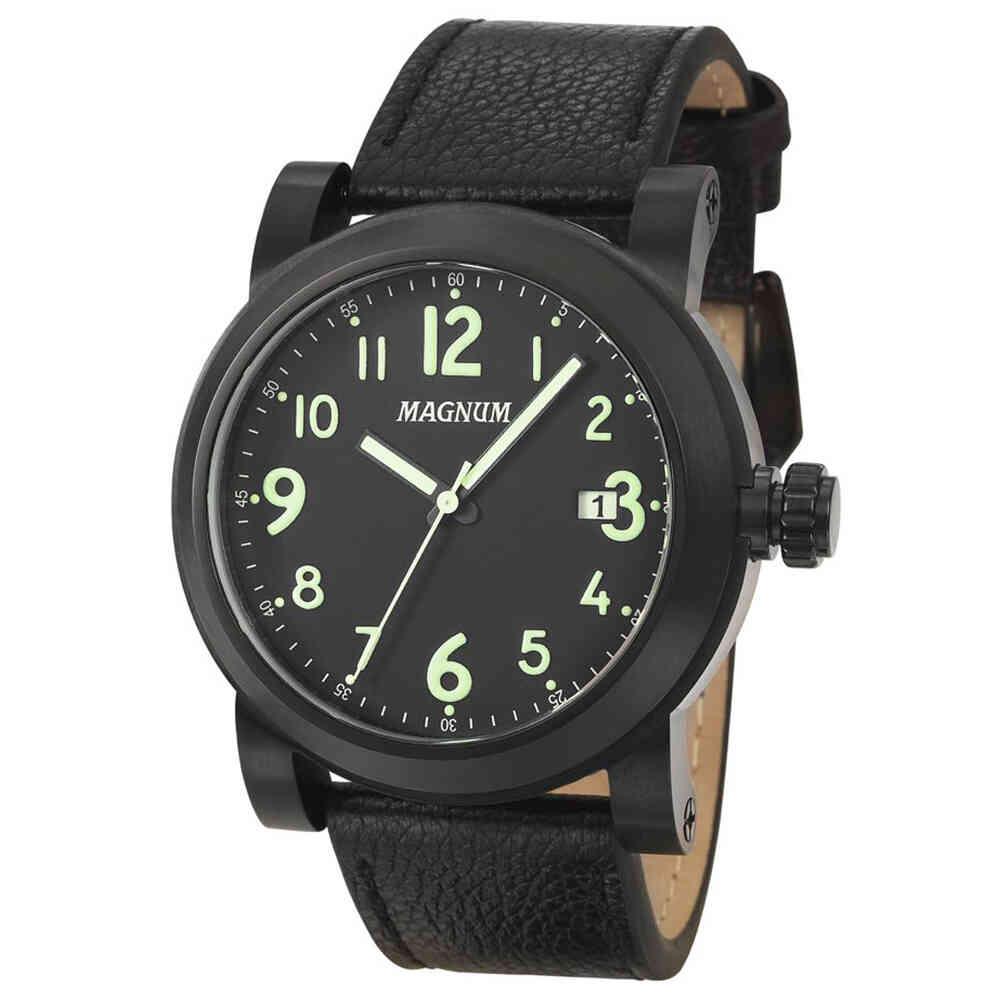 Relógio de Pulso Magnum com Pulseira de Couro Masculino MA34745