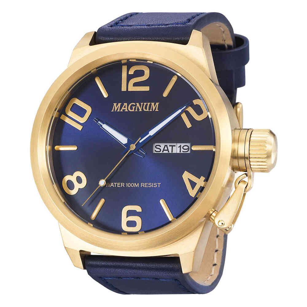 Relógio de Pulso Magnum Masculino com Pulseira de Couro MA33399
