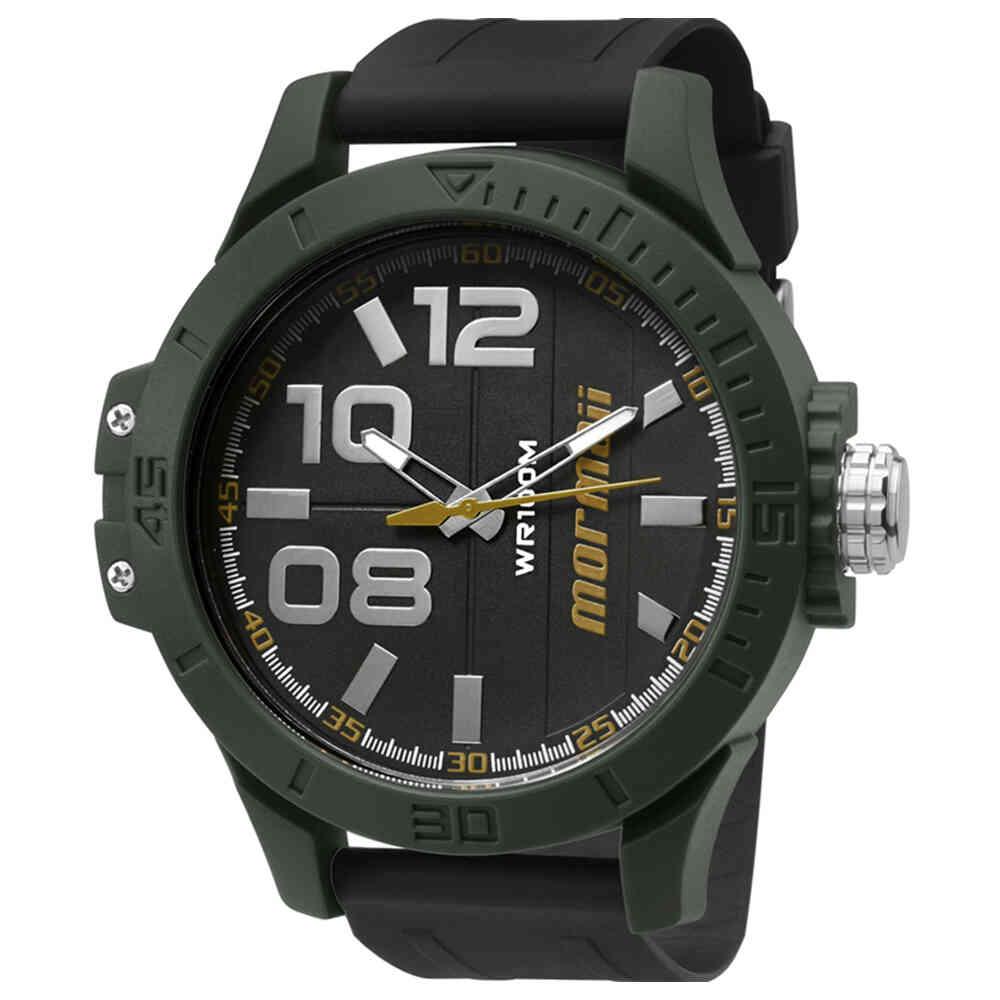 Relógio de Pulso Mormaii Aqua Wave Masculino com Pulseira de Borracha MO2035I