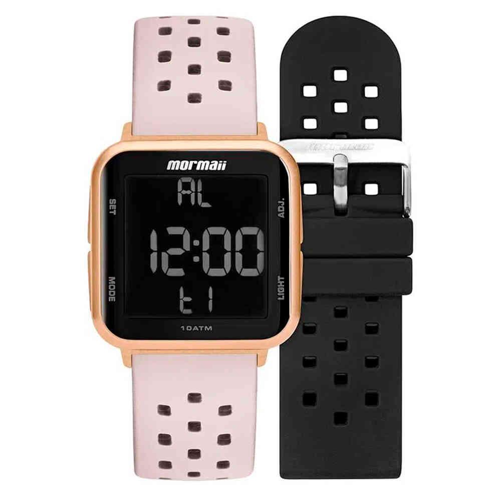 Relógio de Pulso Mormaii Feminino Digital Troca Pulseiras MO6600A