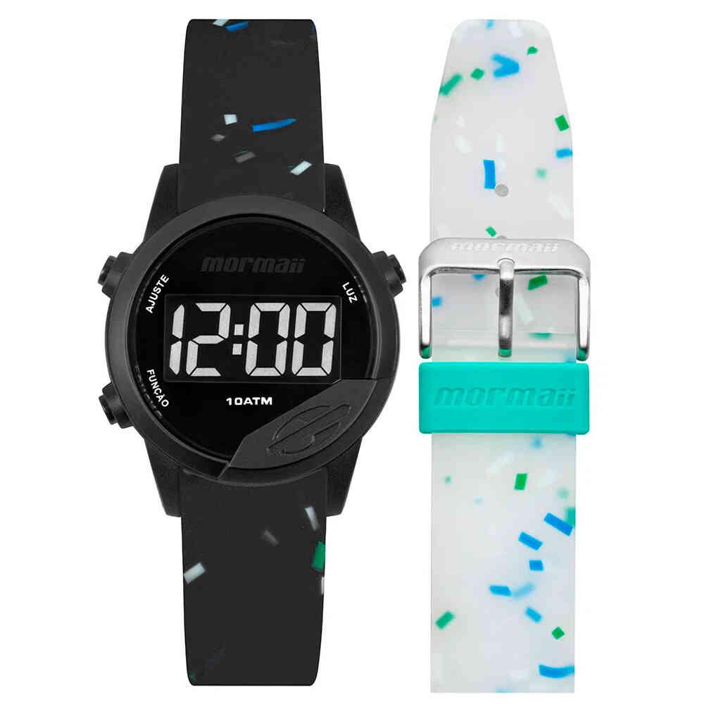Relógio de Pulso Mormaii Mude Digital Troca Pulseiras MO4100AE