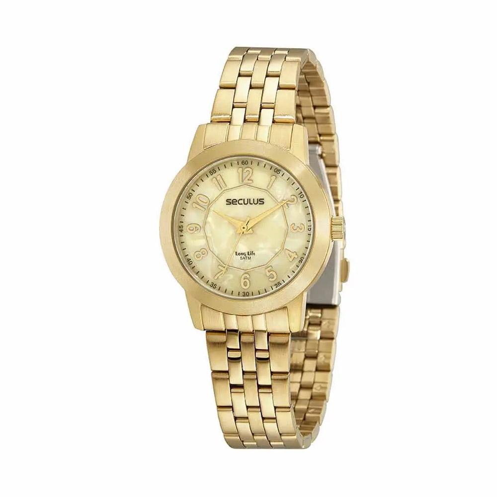 Relógio de Pulso Seculus Long Life Feminino 20978L