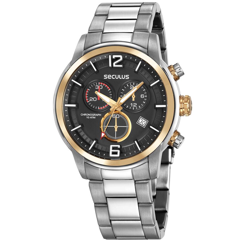 Relógio de Pulso Seculus Masculino com Cronógrafo 13040G