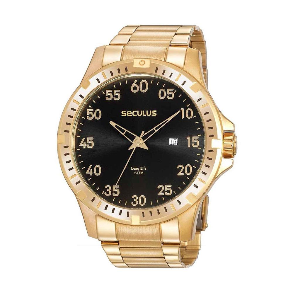 Relógio de Pulso Seculus Masculino Long Life 20957G