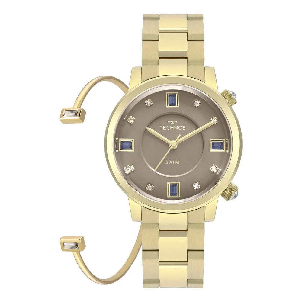 Relógio de Pulso Technos Crystal Feminino com Bracelete 2039BU